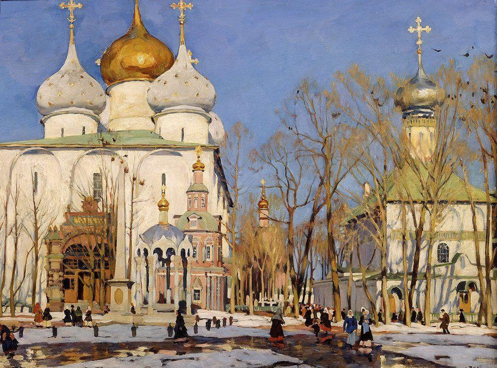 Russian orthodox church in art