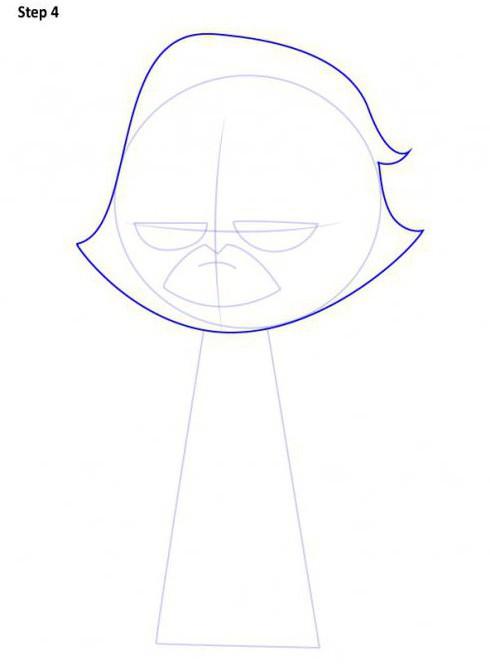 Как нарисовать рейвен из юных титанов