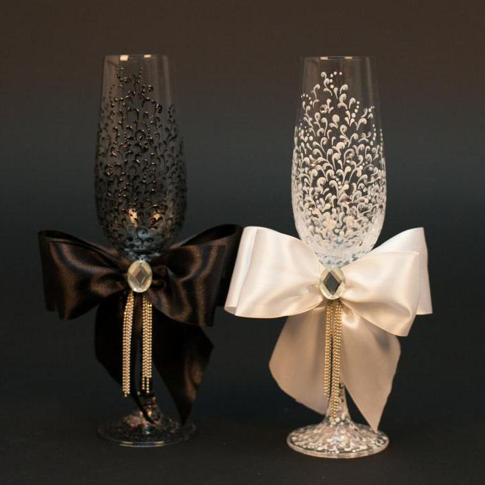 Оформление свадебных Мастер класс по дизайну бокалов