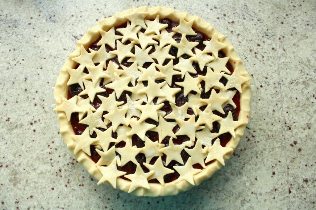 Штампованный дизайн пирога