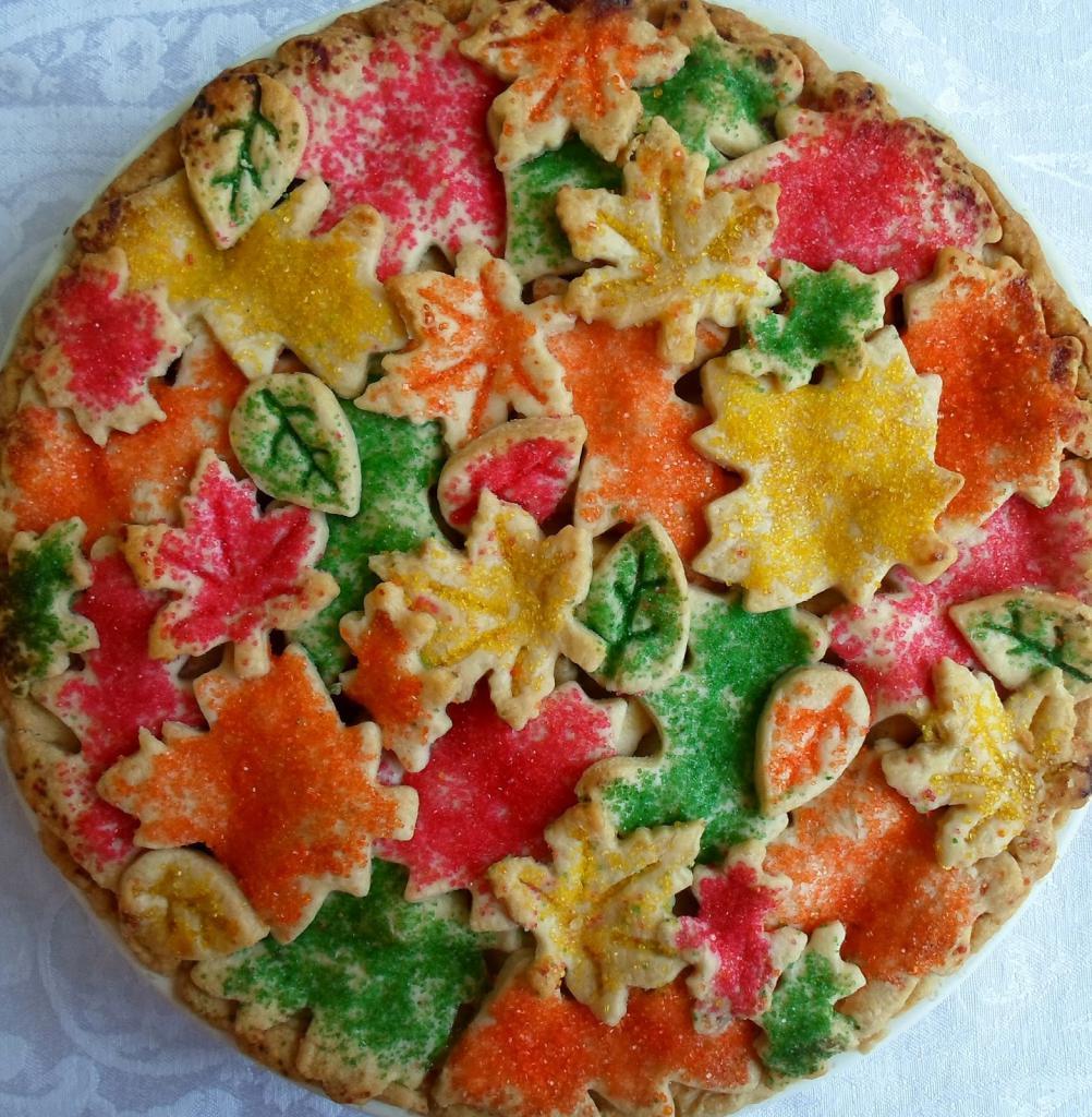 Цветной пирог. Штампованный дизайн