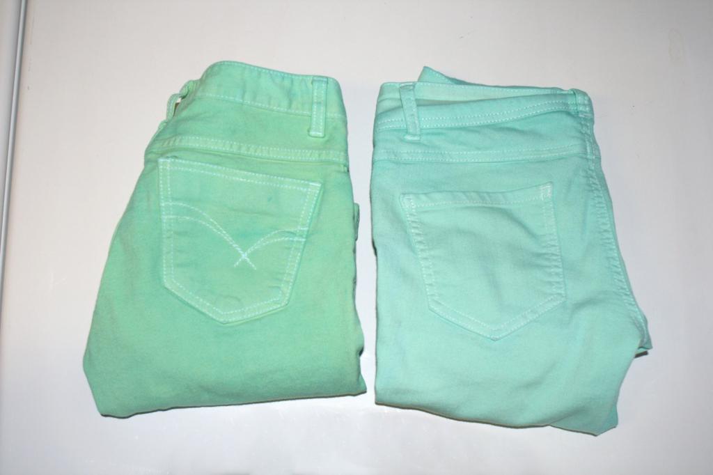 Штаны мятного цвета