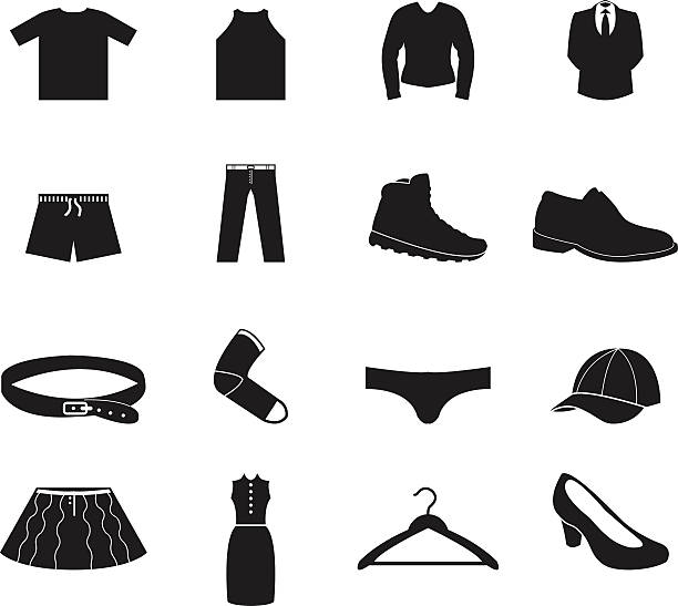 Different clothes icons
