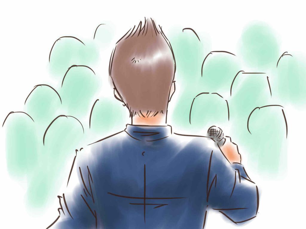 Speech to the crowd