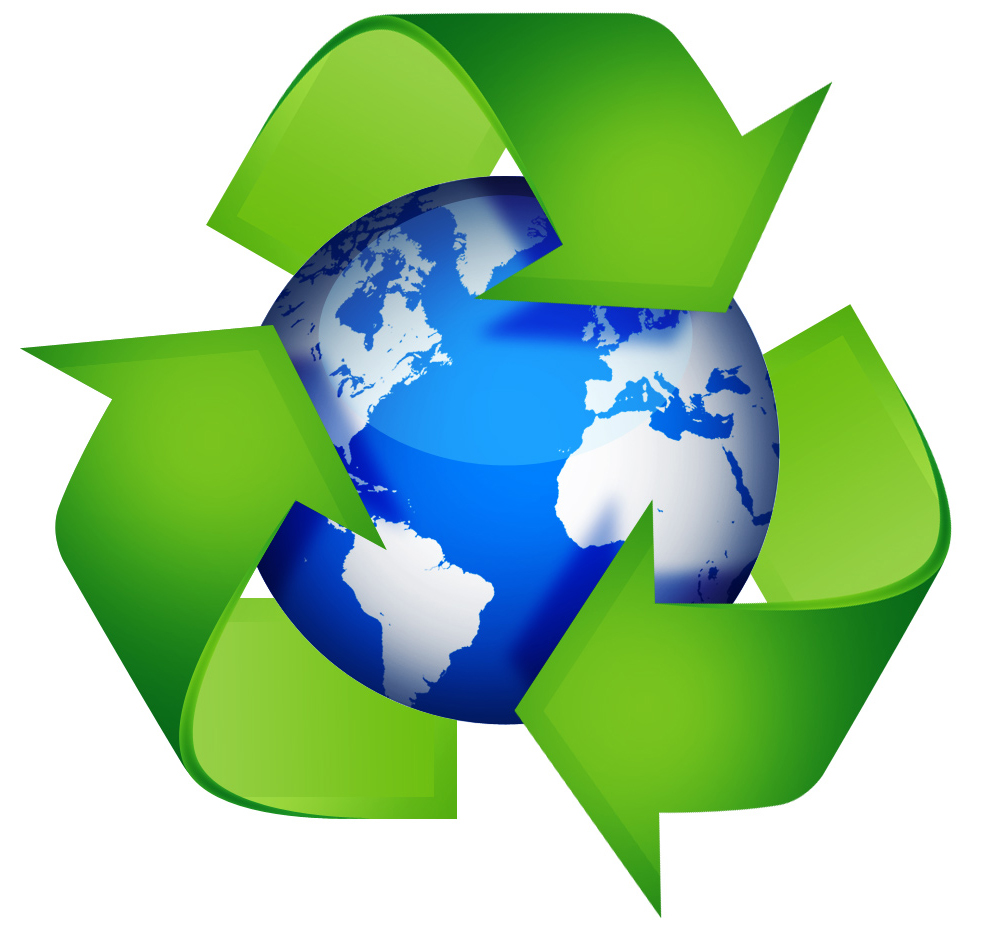 Triangle recycling icon