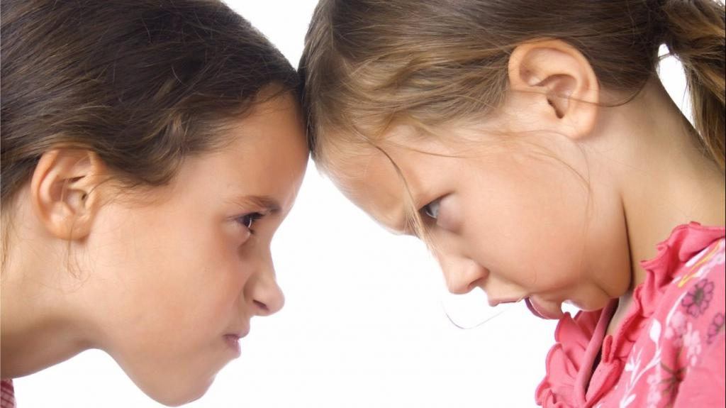 Girls confront each other