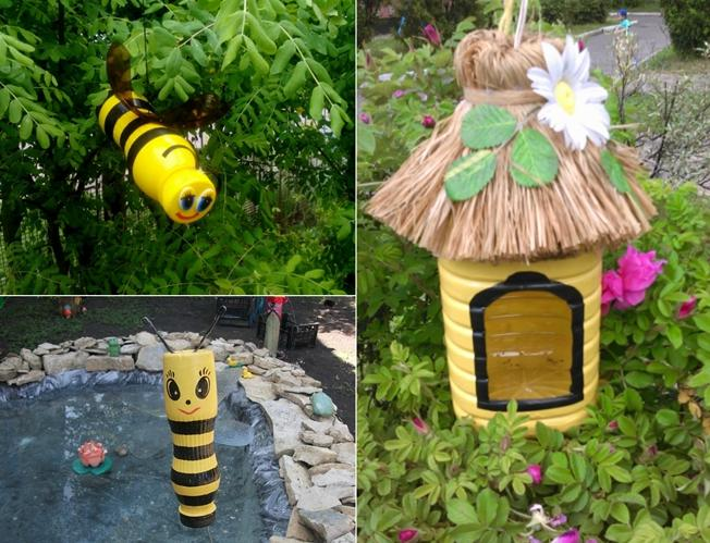 пчелы поделка для сада нарезки