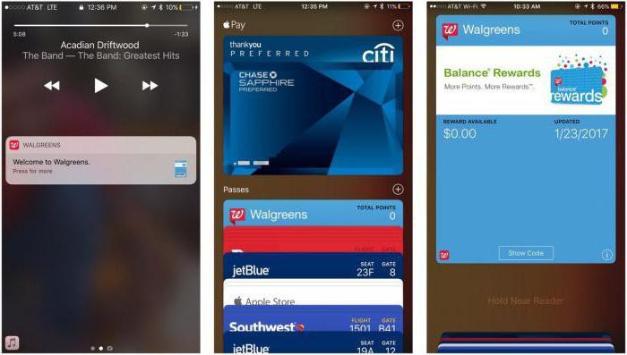 использование программы wallet на устройстве iphone