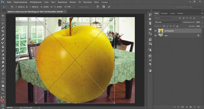 как в фотошопе изменить размер слоя