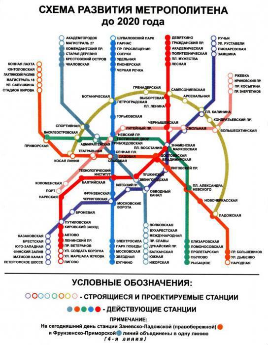 метро спб план развития