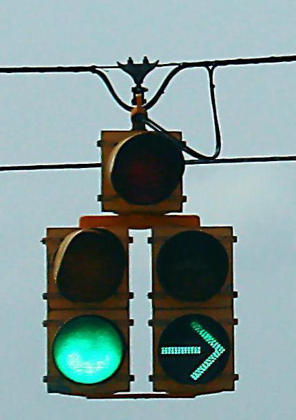 светофор с дополнительной секцией направо правила проезда