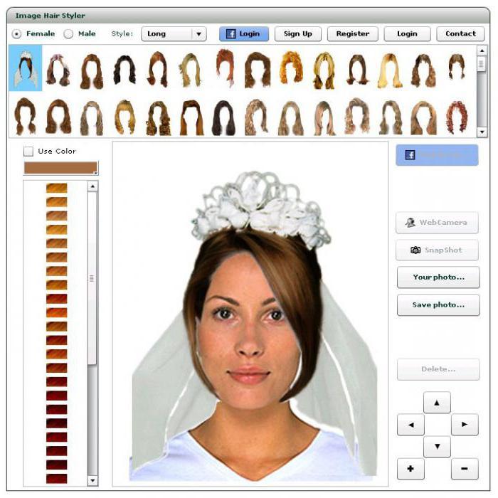 программа подбора причесок и цвета волос
