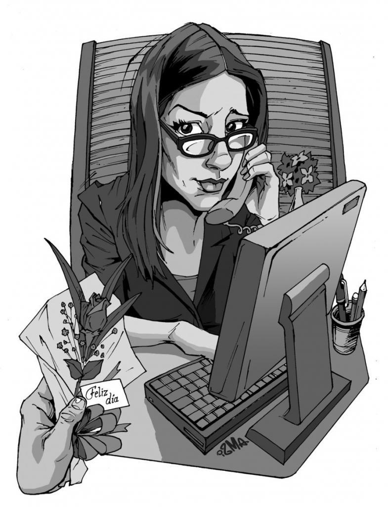 Картинки секретарь на работе прикольные картинки