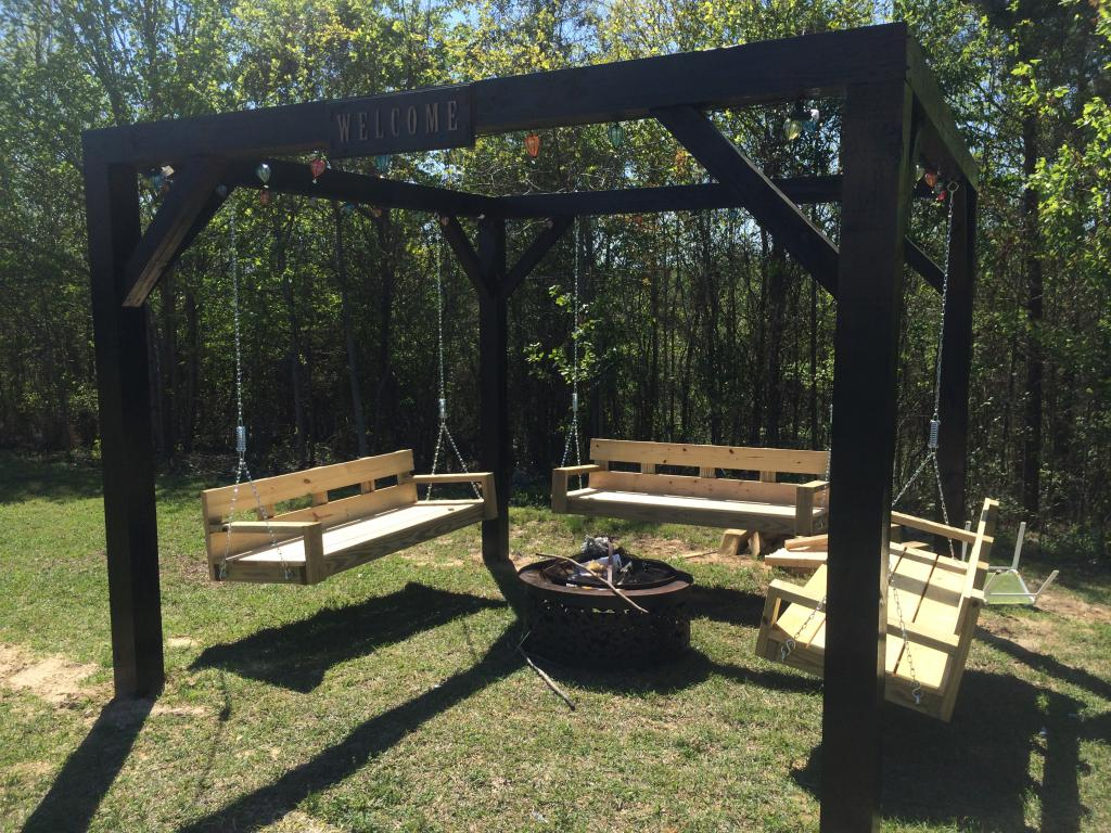 how to make a garden swing