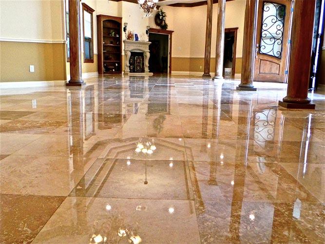 polishing marble and granite
