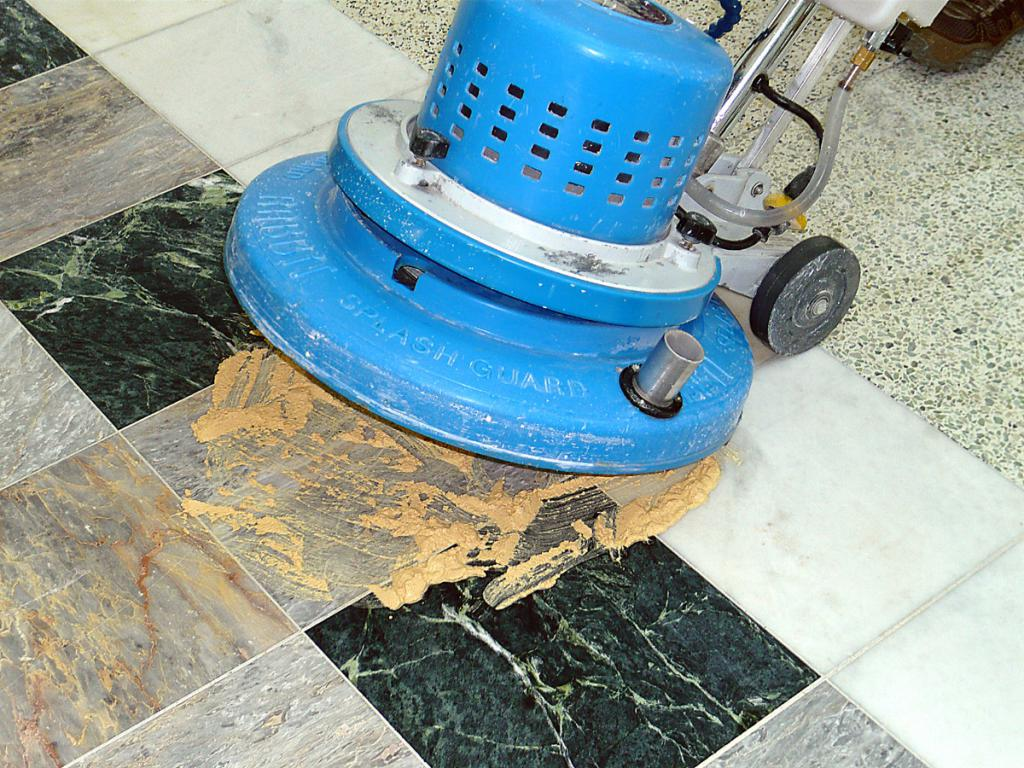 grinding and polishing marble