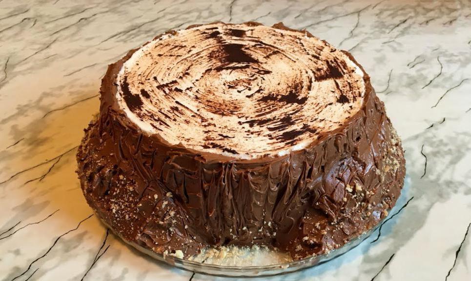 homemade rotten stump cake