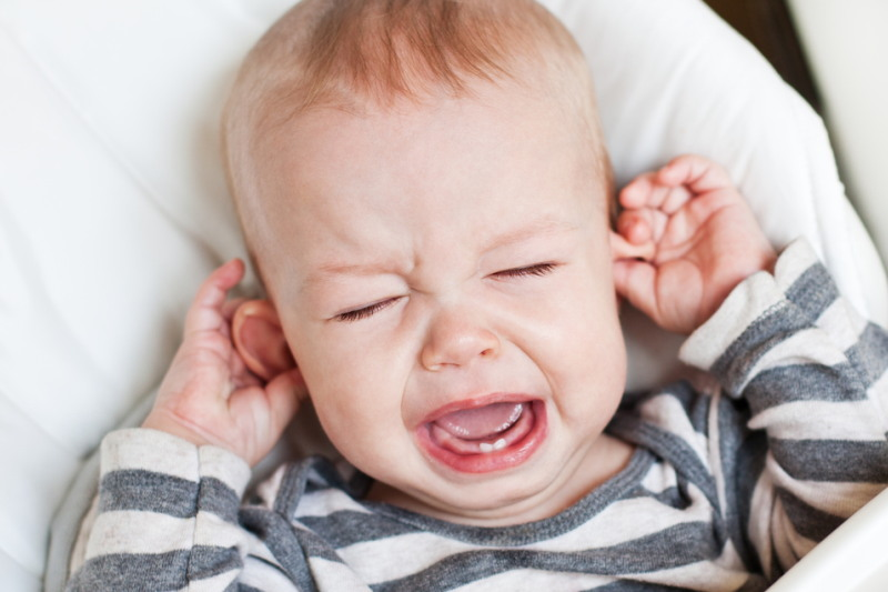 if water gets into the child's ear