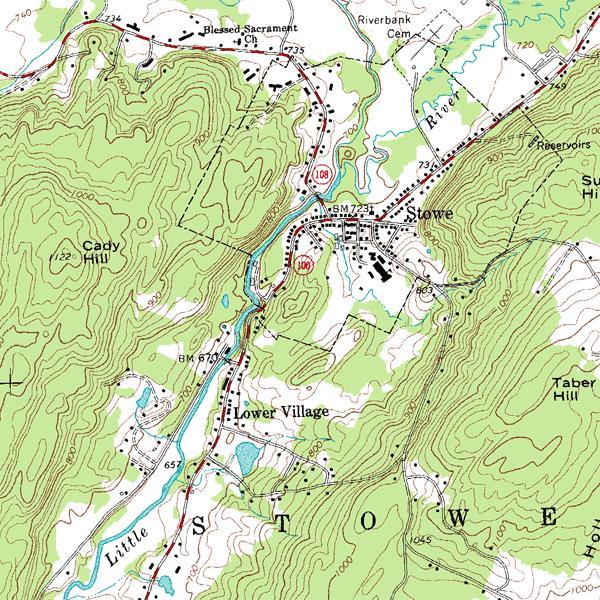 топографический план обозначения