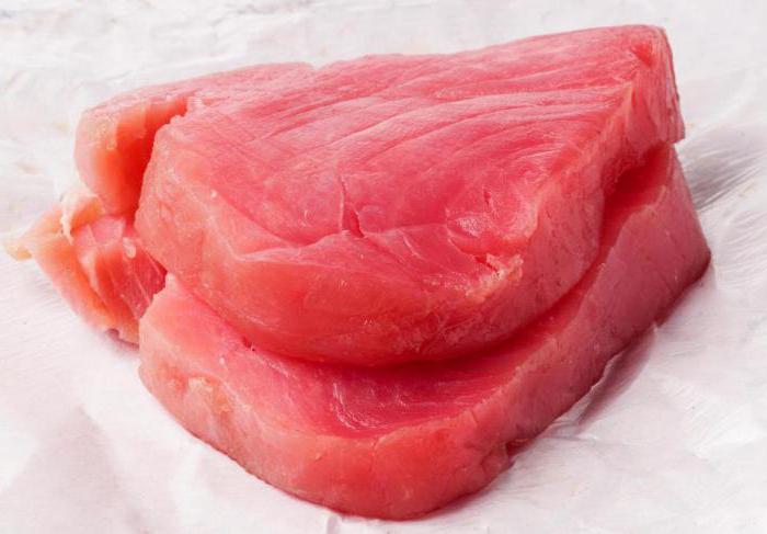 замороженное филе тунца