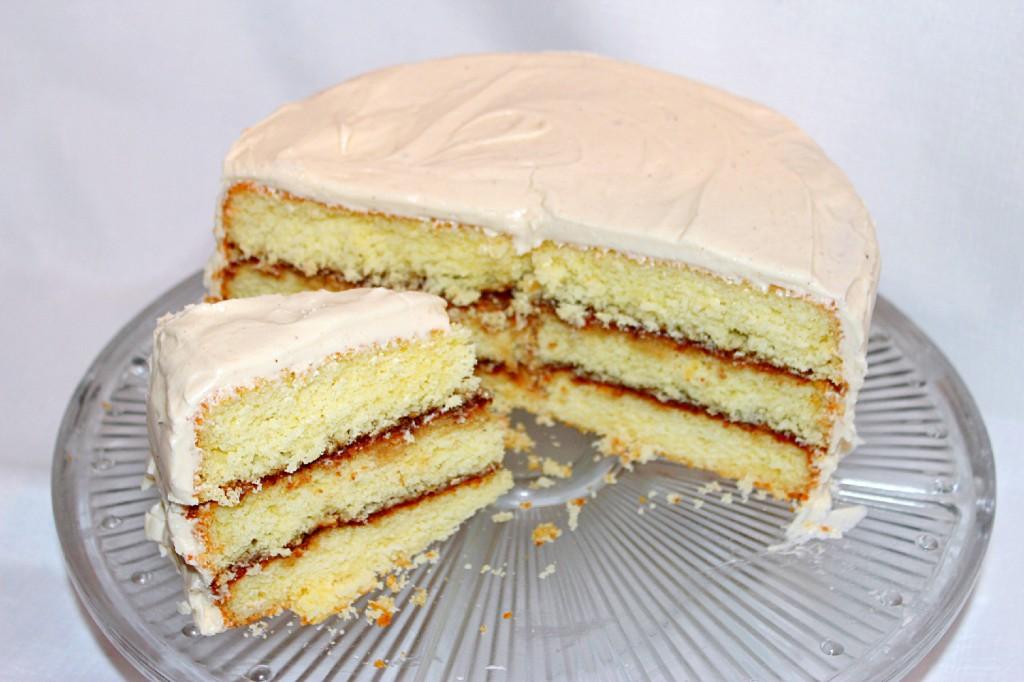 Sour cream sponge cake