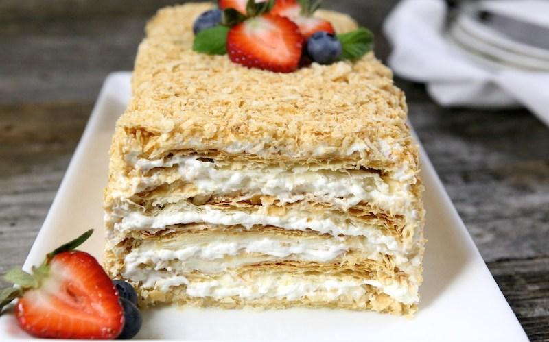рецепты с картинками торта наполеон бой