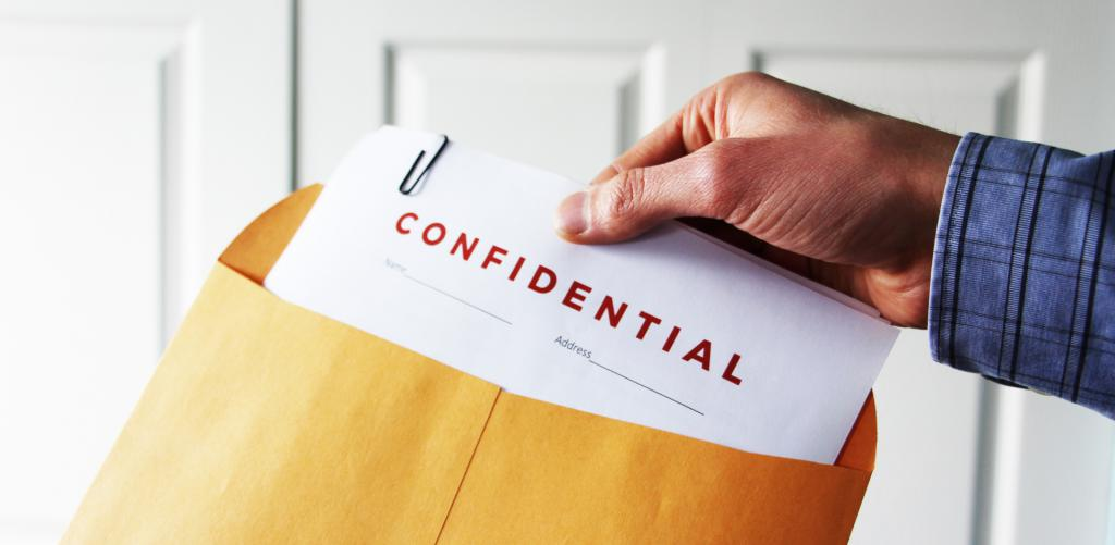 Types of confidential information and their protection