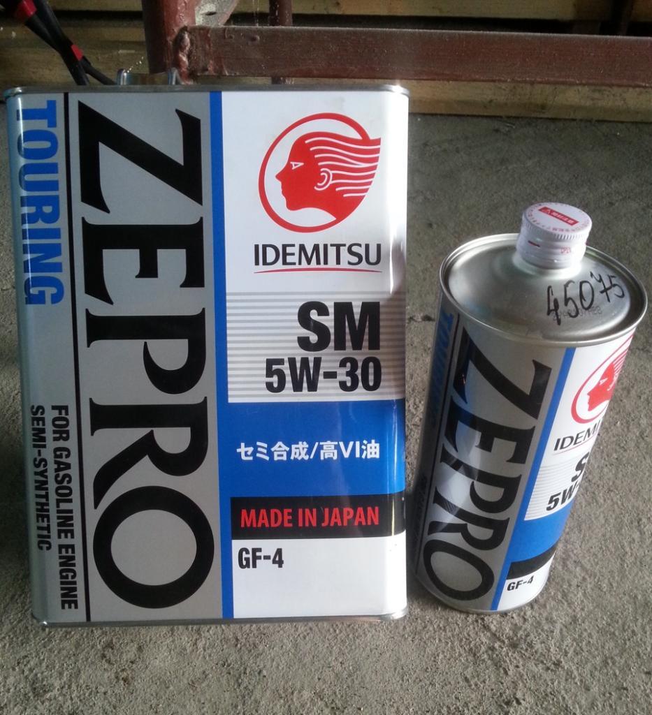 Idemitsu Zepro Touring 5W30 SN отзывы