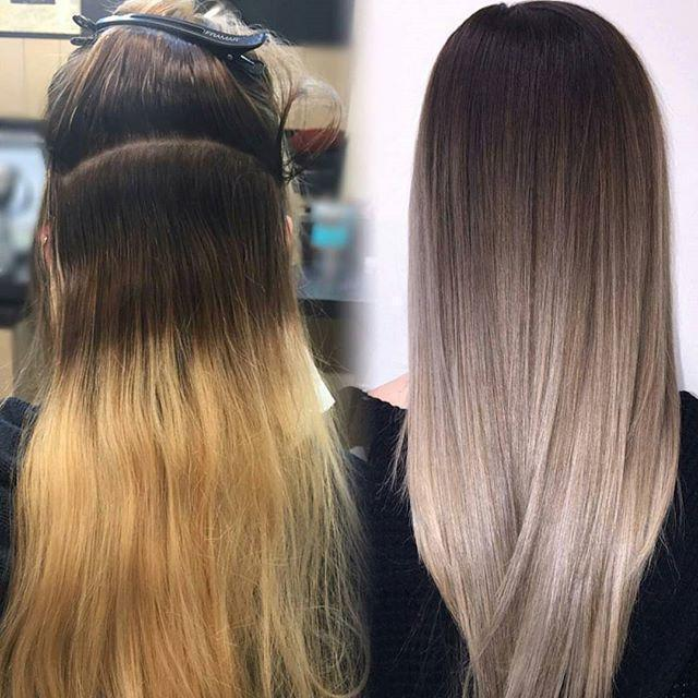 Цвет волос от тёмного к светлому