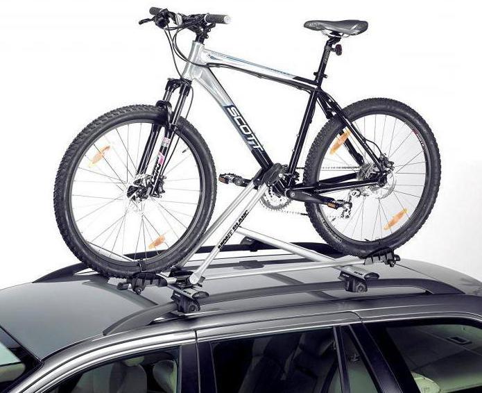 крепление велосипеда на крышу автомобиля Mont Blanc