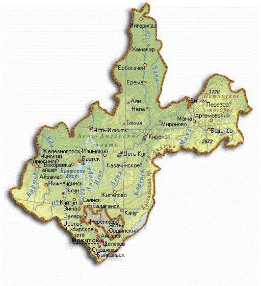 города иркутской области список по численности населения