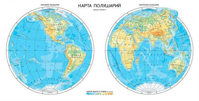 в каком полушарии находится россия