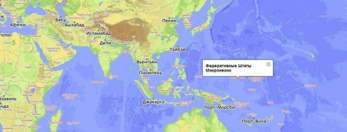 столица микронезии