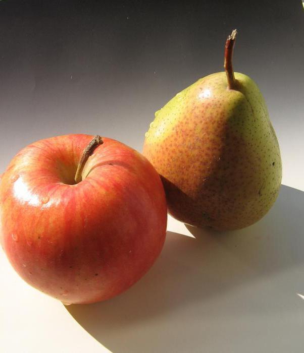 что полезнее яблоко или груша