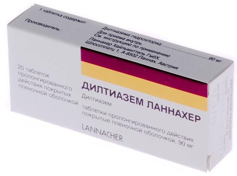 Дилтиазем ланнахер таблетки ретард 90 мг, 20 шт. , купить дешево.