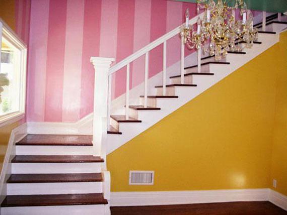 крашеные стены в интерьере фото