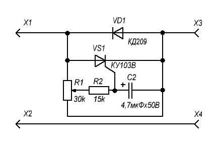 однофазный тиристорный регулятор мощности