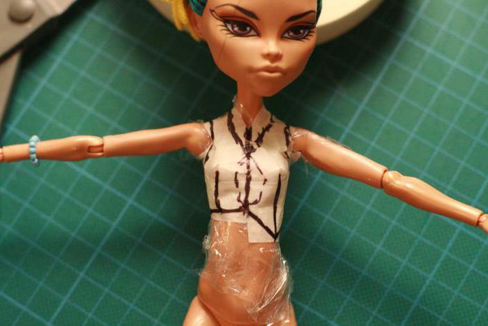 одежда для куклы монстр хай своими руками выкройки