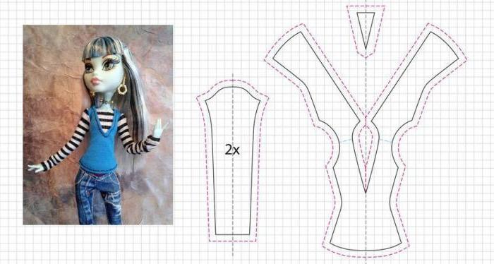 одежда для куклы монст хай своими руками