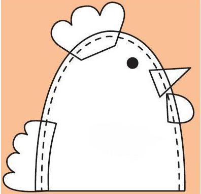 пасхальный цыпленок из фетра выкройка