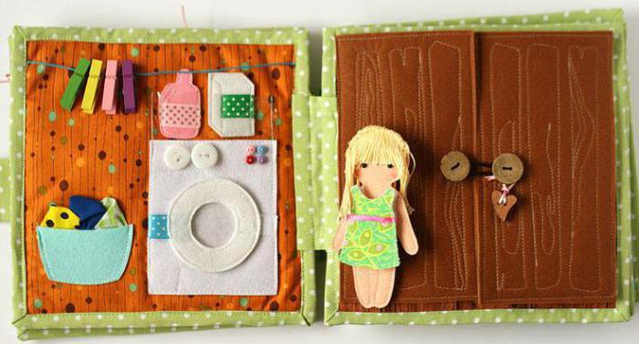 домик для куклы из фетра