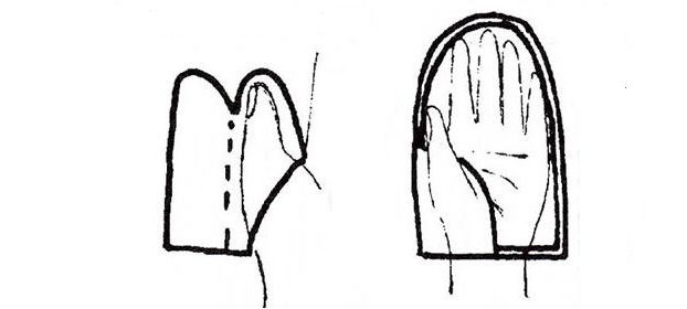 выкройка рукавиц из меха