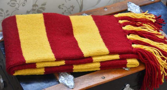 Гарри поттер шарф связать