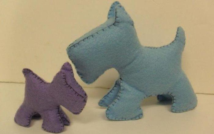 игрушки из фетра собачка выкройка