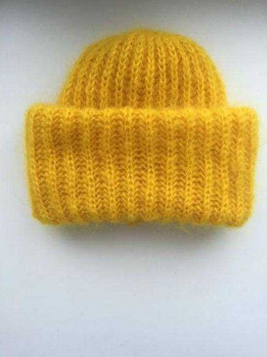 объемные шапки спицами схемы