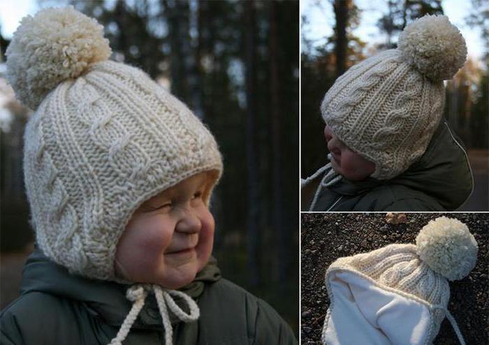 детская шапочка с ушками спицами схема