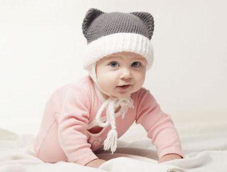 шапка с ушками детская