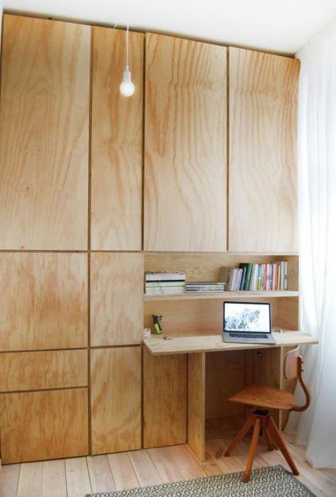 Стены из фанеры в деревянном доме
