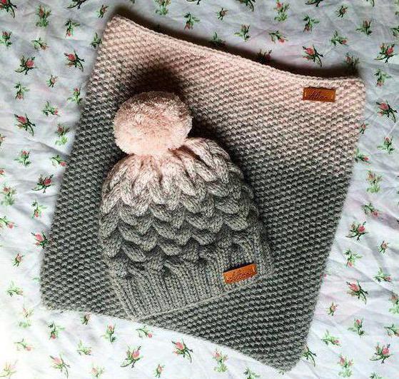 детский снуд и шапка спицами для девочки