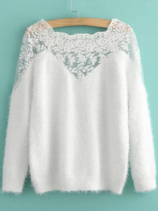 свитер из мохера